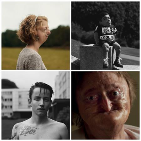Collage med fire bilder fra boka