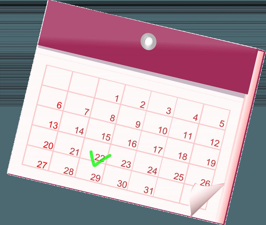 Illustrasjon av en kalender