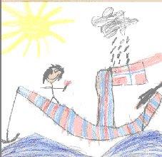 Tegning fra Fredrik, 6 år