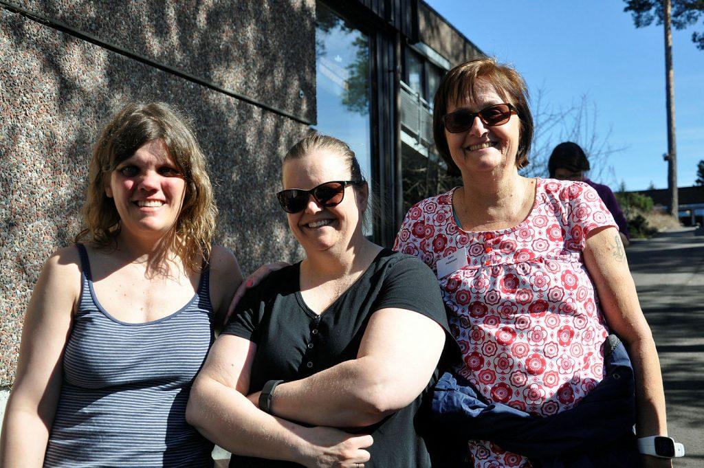 Tre voksne damer med NF1