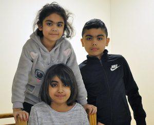 Tre barn på kurs