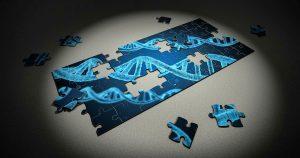 Puslespill med DNA-brikker