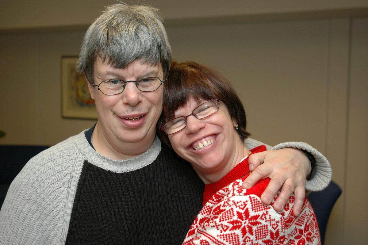 To voksne med utviklingshemning