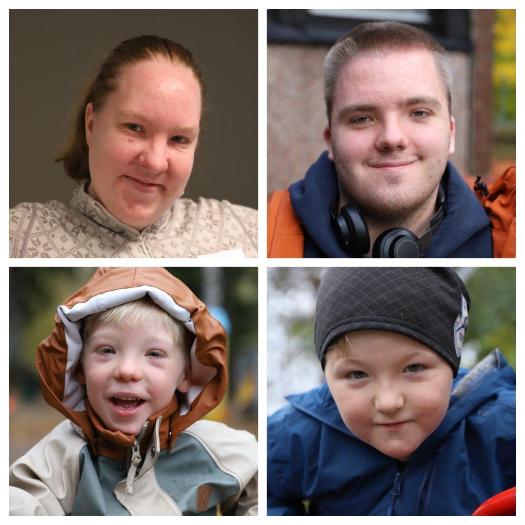 Collage av fire personer