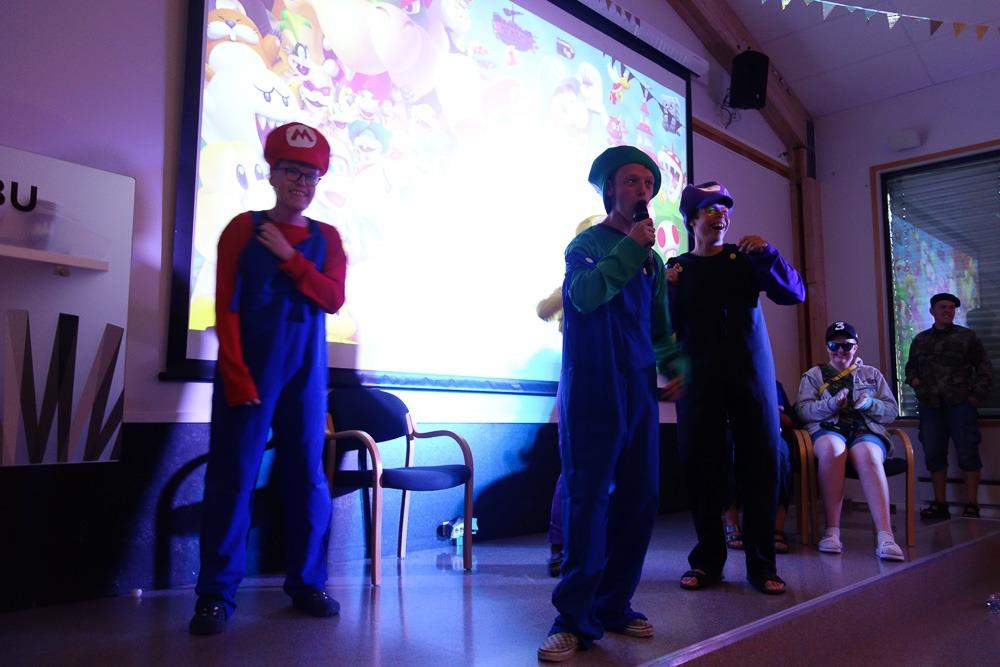 Mario og Luigi på scenen