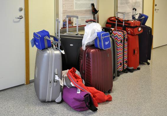 Kofferter i gangen