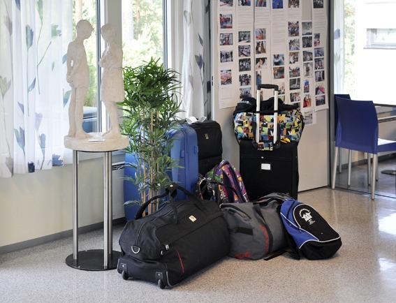 Kofferter i korridoren