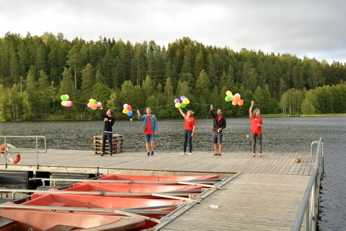 Ballonger på brygga