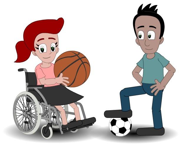 Illustrasjon av ungdom som spiller ball