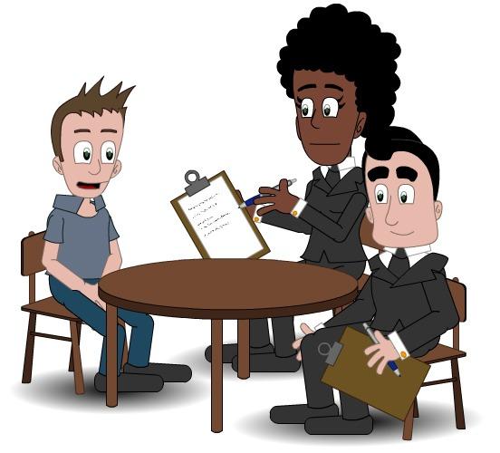 Illustrasjon som viser konsultasjon med fagpersoner